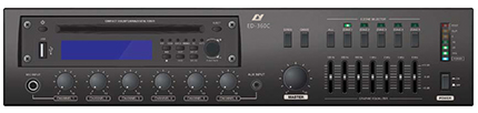 5 Zone Mixer Amplifier with CD/MP3/USB/FM Tuner/Remote Paging