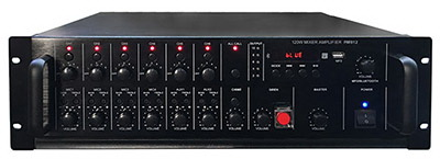 6 Zone Mixer Amplifier with Paging/USB/Bluetooth