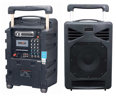 Portable Wireless PA Amplifier (DVD/Cassette/MP3/Tuner/USB/SD)