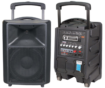 Portable Wireless PA Amplifier (CD/VCD/MP3/Tuner/USB/SD)