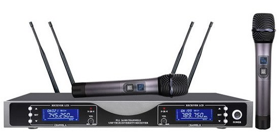 UHF Dual Channel True Diversity Wireless Microphone